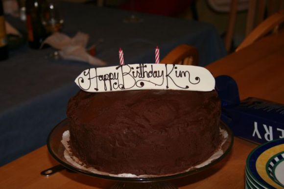 chocolate birthday cake kim