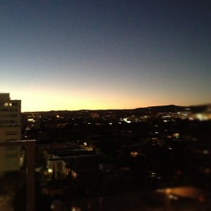 Sunset, from The Hotel Wilshire