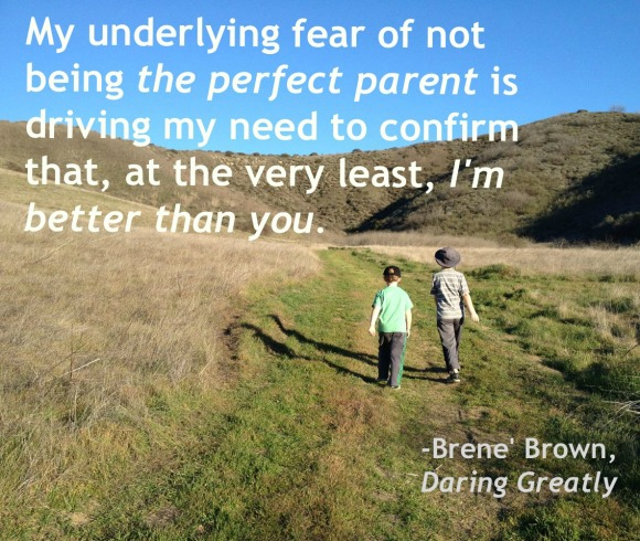 perfect parent brene brown quote