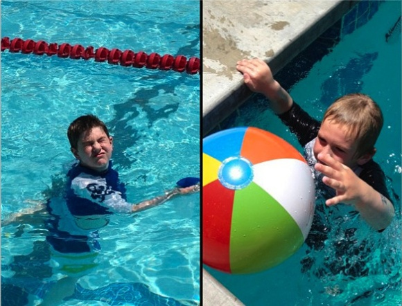 pool kids beach ball