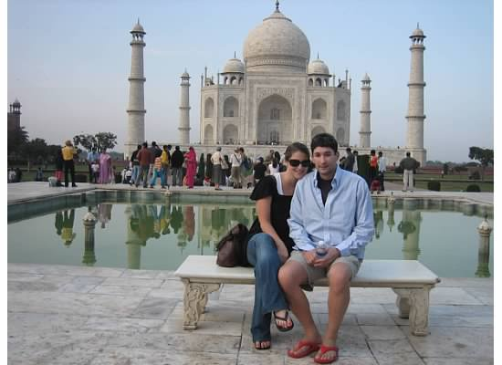 Jenny and Jay at the Taj Mahal