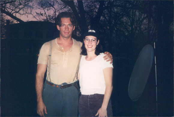 "Me and Harry Connick, Jr. on the set of ""Letters From a Wayward Son:"