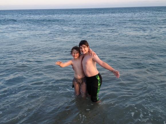 boys in ocean