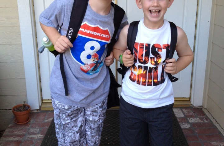 Wordless Wednesday: First Day of School 2014