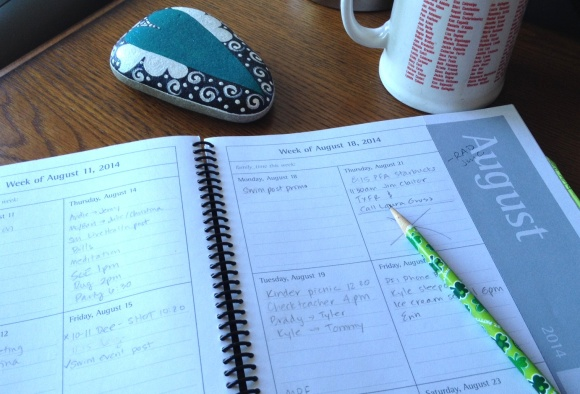 morning coffee and planner
