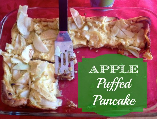 apple puffed pancake breakfast