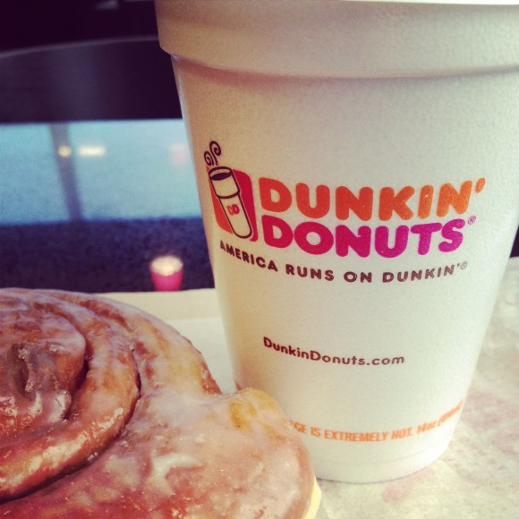 dunkin donuts coffee roll