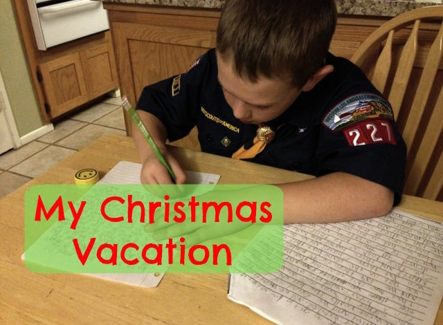 Our Christmas Vacation (by 7-year-old Brady)