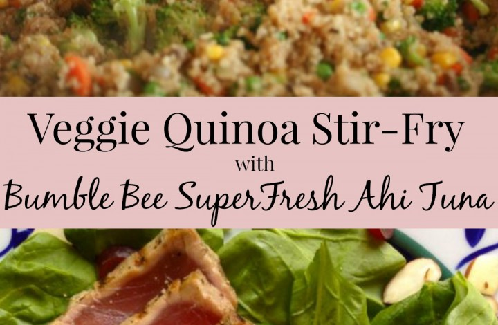 Everyday Sushi: Bumble Bee SuperFresh® Seared Ahi Tuna and Veggie Quinoa Stir Fry