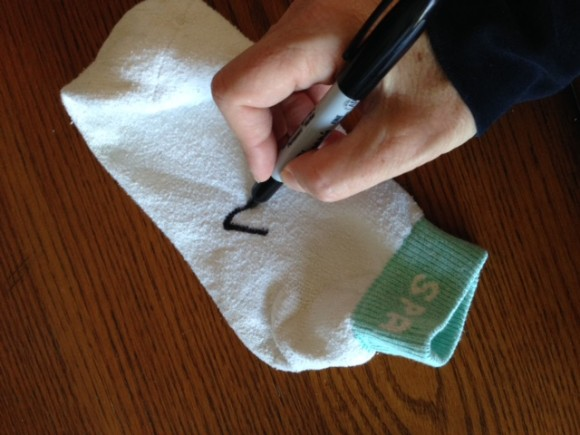 dusting with socks sharpie