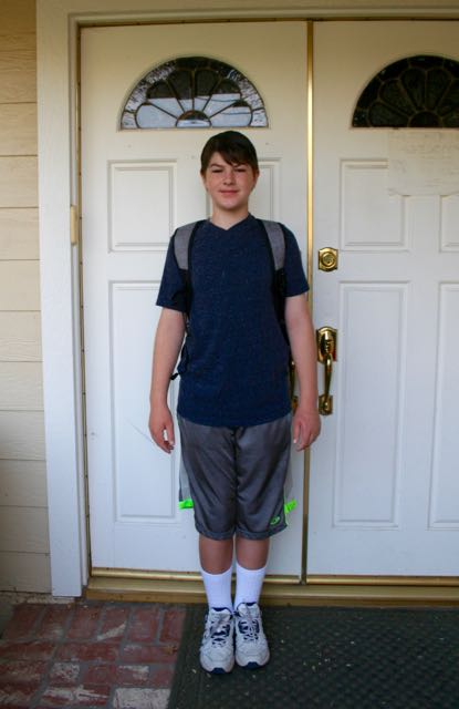 first day of school middle schooler