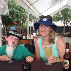 Costa Rica mother and son