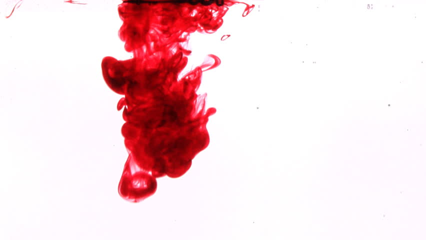 red bloom of ink